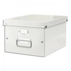 LEITZ Boîte CLICK&STORE M-Box. Format A4 - Dimensions : L281xH200xP369mm. Coloris blanc.
