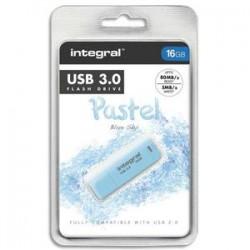 INTEGRAL Clé USB 3.0 Pastel Bleue 16Go + redevance INFD16GBPASBLS3.0
