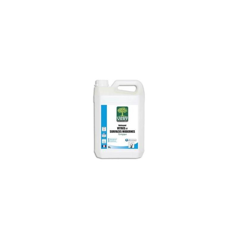 L'ARBRE VERT Bidon 5 Litres Nettoyant vitres et surfaces écologique 100% origine végétale parfum menthe