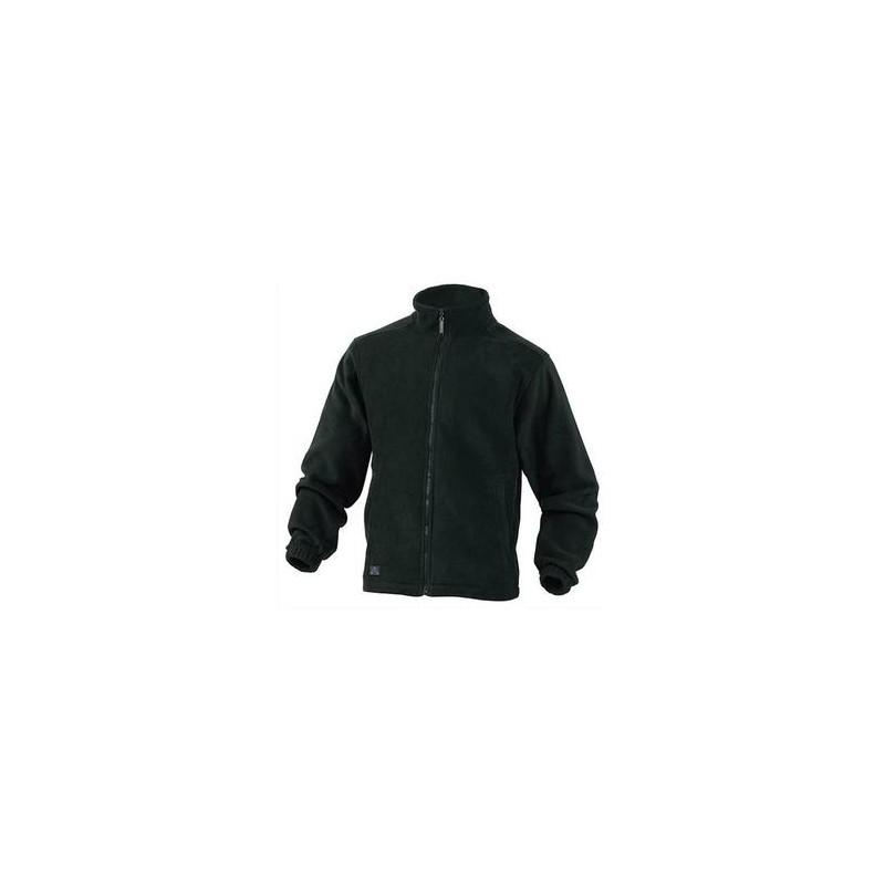 DELTA PLUS Veste polaire Vernon en laine polaire polyester fermeture zip 2 poches noire Taille L