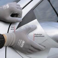 MAPA Lot de 10 paires de Gants Ultrane polyuréthane industrie salissante homme Taille 9 L21-27 cm gris