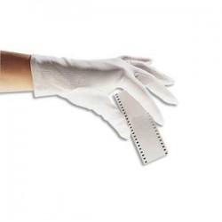 DELTA PLUS Lot de 12 paires de Gants en coton blancs poignets à ourlet ne peluche pas pour Homme