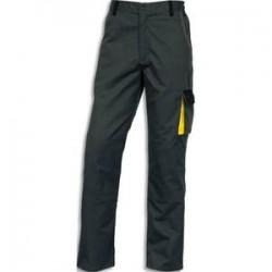 DELTA PLUS Pantalon D-Match 65% polyester 35% coton 6 poches fermeture zip gris jaune Taille XL
