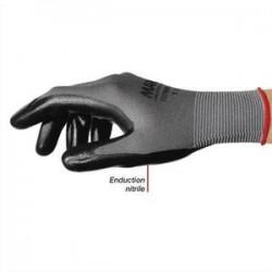 MAPA Colis de 10 paires de Gants Ultrane 553 polyamide sans conture enduction nitrile sur paume Taille 7