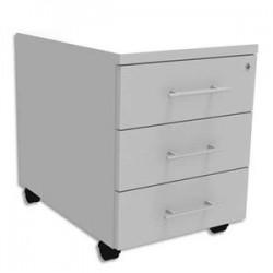 SIMMOB Caisson mobile 3 tiroirs plats + plumier EXPRIM - Dimensions : L43 x H56 x P60 cm Blanc perle