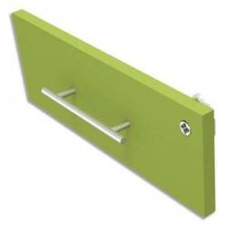 SIMMOB Option façade pour caisson de console INEO - Dimensions : L41,5 x H17 x P2 cm coloris Anis