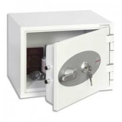 PHOENIX Coffre-fort ignifuge 1hr acier serrure à clé Titan 16 litres - L41 x H30,8 x P34,2 cm gris