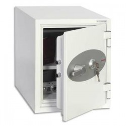 PHOENIX Coffre-fort ignifuge 1hr acier serrure à clé Titan 25 litres - L35,2 x H42 x P43,3 cm gris