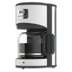 BREVILLE Cafetière Opula blanche en inox 1000 Watts, capacité 1,5 litres,12 tasses L28 x H39 x P22 cm