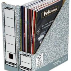 BANKERS BOX Porte-revues dos 8 cm pour format A4, carton recyclé gris/blanc
