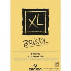 CANSON Bloc de 50 feuilles de papier dessin XL BRISTOL 180g A3