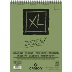 CANSON Bloc de 50 feuilles de papier dessin XL DESSIN 10 160g A4