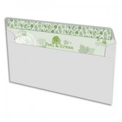 OXFORD Boîte de 500 enveloppes recyclées extra blanches 90g format DL 110x220 mm