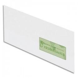 OXFORD Boîte de 500 enveloppes recyclées extra blanches 90g format DL 110x220 mm avec fenêtre 45x100 mm