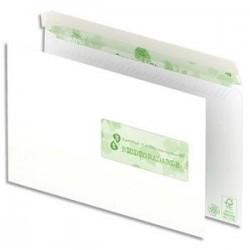 OXFORD Boîte de 500 enveloppes recyclées extra blanches 90g format C5 162x229 mm avec fenêtre 45x100 mm