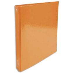 EXACOMPTA Classeur 4 anneaux 30mm IDERAMA en carte 18/10ème. Dos 4 cm, format A4. Coloris orange