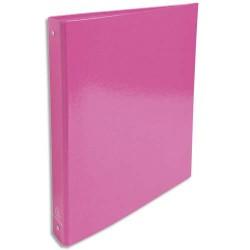 EXACOMPTA Classeur 4 anneaux 30mm IDERAMA en carte 18/10ème. Dos 4 cm, format A4. Coloris rose