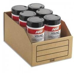 EMBALLAGE Paquet de 50 bacs à bec de stockage en carton brun - Dimensions : L20,1 x H15,2 x P30,1 cm