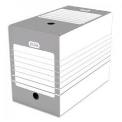 ELBA Boîte archives dos 20 cm en carton. Montage automatique. Coloris gris