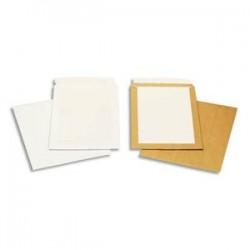 BONG Boîte de 100 pochettes blanches auto-adhésives dos cartonné 250X353 120G