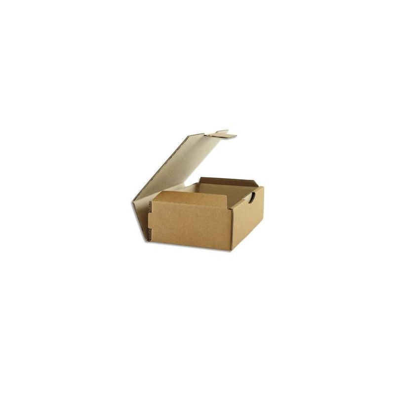 EMBALLAGE Boîte postale en carton brun simple cannelure - Dimensions : L24 x H5 x P17 cm