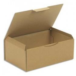 EMBALLAGE Boîte postale en carton brun simple cannelure - Dimensions : L35 x H13 x P22 cm