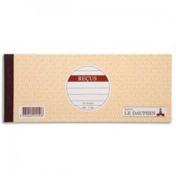 LE DAUPHIN Carnet de reçus 9 x 22,5 cm 50 feuillets 10 colonnes