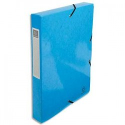 EXACOMPTA Boîte de classement IDERAMA en carte pelliculée 7/10e, 600g. Dos 4 cm. Coloris bleu