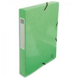 EXACOMPTA Boîte de classement IDERAMA en carte pelliculée 7/10e, 600g. Dos 4 cm. Coloris vert