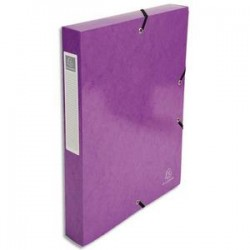 EXACOMPTA Boîte de classement IDERAMA en carte pelliculée 7/10e, 600g. Dos 4 cm. Coloris violet