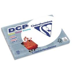 CLAIREFONTAINE Ramette de 250 feuilles papier blanc DCP copieur, laser, jet d encre couleur 120 gr A3