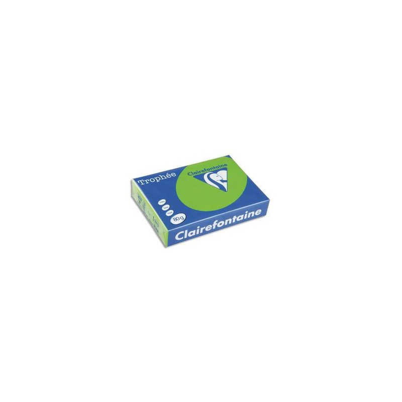 CLAIREFONTAINE Ramette de 500 feuilles papier couleur TROPHEE 80 grammes format A3 bleu turquoise 1886