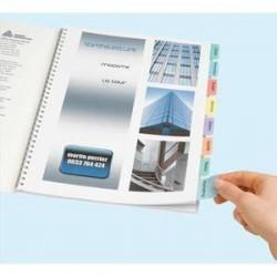 AVERY Lot de 4 planches pour imprimer 96 onglets pour une personnalisation c PC et imprimante