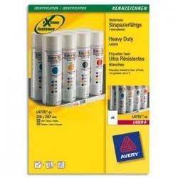 AVERY Boite de 20 etiquettes laser inalterables blanches 210x297 L4775-20