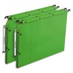 OBLIQUE AZ Boîte de 25 dossiers suspendus ARMOIRE en kraft 240g. Fond 15, bouton-pression. Vert