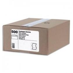 NEUTRE Boîte de 500 enveloppes blanches 80g DL 110x220 mm fenêtre 45x100 mm auto-adhésives