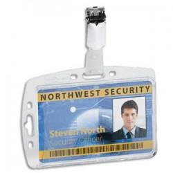DURABLE B/25 Portes-badge avec clip pour 1 carte de sécurité