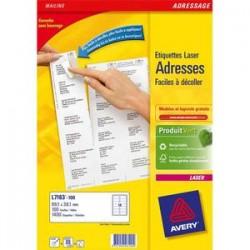 AVERY Boîte de 1400 étiquettes adresse laser recyclées blanc 99.1X38.1 LR7163-100