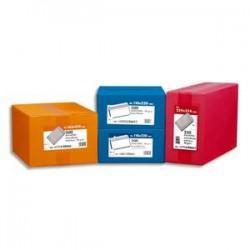 NEUTRE Boîte de 500 enveloppes blanches 80g DL 110x220 mm fenêtre 35x100 mm autocollantes