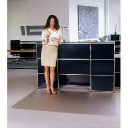 FLOORTEX Tapis antidérapant en polycarbonate pour sol dur 119 x 89 cm