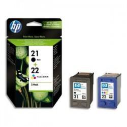 HP Cartouche jet d'encre pack N° 21 + 22 SD367AE