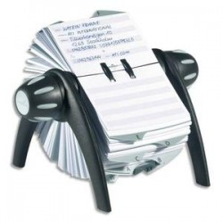 DURABLE fichier rotatif noir pour fiche contact 25 onglets alphabétique télindex