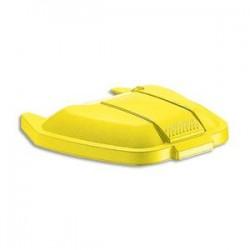 RUBBERMAID Couvercle jaune pour conteneur à roues capacité 100 Litres - Dim. : L51,5 x H8 x P56 cm