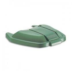 RUBBERMAID Couvercle vert pour conteneur à roues capacité 100 Litres - Dim. : L51,5 x H8 x P56 cm