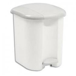 RUBBERMAID Collecteur blanc à pédale, capacité 15 litres en platsique - Dim. : L32,2 x H39 x P31,4 cm