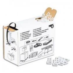 EMBALLAGE Kit de cerclage : ruban de cerclage noir H1,2 cm x L600 mètres + 200 boucles autobloquantes