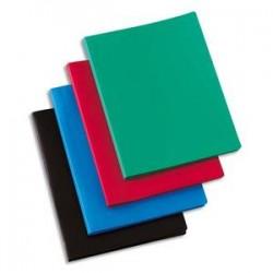 5 ETOILES Protège-documents en polypropylène 60 vues noir , couverture 3/10e, pochettes 6/100e