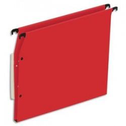 NEUTRE Boîte de 25 dossiers suspendus ARMOIRE en kraft 220g. Fond 15mm, volet agrafage + pression. Rouge