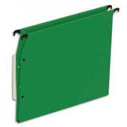 NEUTRE Boîte de 25 dossiers suspendus ARMOIRE en kraft 220g. Fond 15mm, volet agrafage + pression. Vert