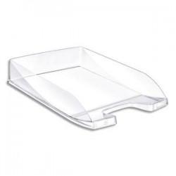 5 ETOILES Corbeille à courrier en polystyrène jusqu'au format 24x32 cm Dim L35 x H6,5 x P25,5 cm cristal